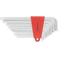 Набор ключей имбусовых TORX, 9 шт, T10-T50, CrV, удлиненных, с сатиновым покрытием. MATRIX