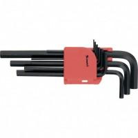 Набор ключей имбусовых HEX, 1,5-10 мм, CrV, 9 шт, удлиненные. MATRIX