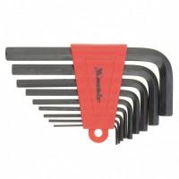 Набор ключей имбусовых HEX, 2,0-12 мм, CrV, 9 шт, оксидированные. MATRIX