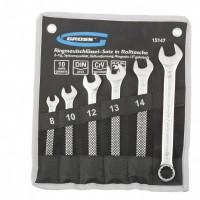 Набор ключей комбинированных 8-17 мм, 6 шт, CrV, холодный штамп. GROSS