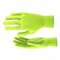 Перчатки нейлон, ПВХ точка, 13 класс, цвет изумрудный, L. Россия