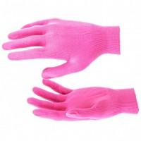 Перчатки нейлон, 13 класс, цвет розовая фуксия, L. Россия