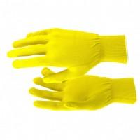 Перчатки нейлон, 13 класс, цвет лимон, L. Россия