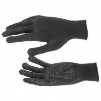 Перчатки нейлон, ПВХ точка, 13 класс, черные, XL. Россия