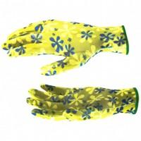 Перчатки садовые из полиэстера с нитрильным обливом, зеленые, M. PALISAD