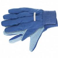Перчатки рабочие х/б ткань с ПВХ точкой, манжет, XL. СИБРТЕХ