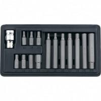 Набор бит HEX, хвостовик-шестигранник 1/2, CrV, 10 мм, 15 предметов. STELS