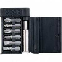 Набор бит, магнитный адаптер для бит, сталь 45Х, 7 предметов, пластиковый бокс. SPARTA
