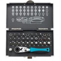 Набор бит, 1/4, магнитный адаптер, сталь S2 пластиковый кейс, 33 предмета. GROSS