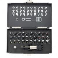 Набор бит, магнитный адаптер, сталь S2, пластиковый кейс, 32 предмета. GROSS