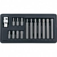Набор бит TORX, хвостовик-шестигранник, 10 мм, CrV, 15 предметов. STELS
