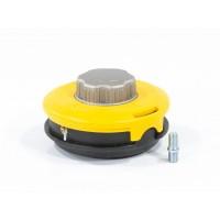 Катушка триммерная полуавтоматическая, легкая заправка лески, гайка M10x1,25, винт M10-M10, алюминиевая кнопка. DENZEL