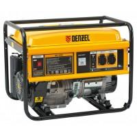 Генератор бензиновый GE 4500, 4,5 кВт, 220 В/50 Гц, 25 л, ручной старт DENZEL