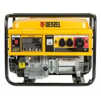 Генератор бензиновый GE 6900, 5,5 кВт, 220 В/50 Гц, 25 л, ручной старт DENZEL