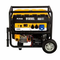 Генератор бензиновый PS 70 EA, 7.0 кВт, 230 В, 25 л, коннектор автоматики, электростартер Denzel
