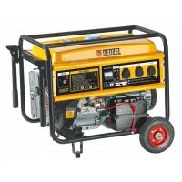 Генератор бензиновый GE 7900E, 6,5 кВт, 220 В/50 Гц, 25 л, электростартер DENZEL