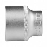 Головка торцевая 32 мм, двенадцатигранная, CrV, под квадрат 1/2, хромированная. STELS