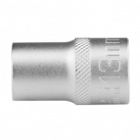 Головка торцевая 13 мм, двенадцатигранная, CrV, под квадрат 1/2, хромированная. STELS