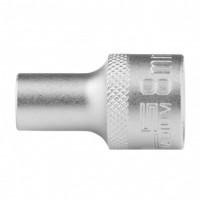 Головка торцевая 8 мм, двенадцатигранная, CrV, под квадрат 1/2, хромированная. STELS