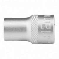 Головка торцевая 12 мм, двенадцатигранная, CrV, под квадрат 1/2, хромированная. STELS