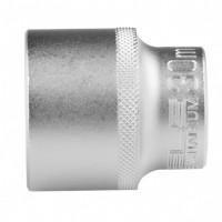 Головка торцевая 30 мм, двенадцатигранная, CrV, под квадрат 1/2, хромированная. STELS