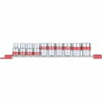 Набор универсальных торцевых головок 1/2, Spline, CrV, 10 шт, 10-22 мм. MATRIX