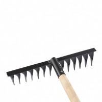 Грабли 14-зубые, 350 мм, с черенком, витые Россия Сибртех