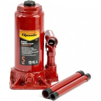 Домкрат гидравлический бутылочный, 5 т, H подъема 195-380 мм. SPARTA