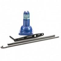 Домкрат механический бутылочный, 2 т, h подъема 210–390 мм, 2 части (домкрат, ручка). Stels