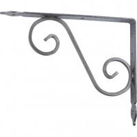 Кронштейн декоративный, 145 х 110 х 25 х 3 мм, темно-серый. СИБРТЕХ
