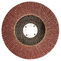Круг лепестковый торцевой, P 25, 115 х 22,2 мм. MATRIX