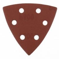 """Треугольник абразивный на ворсовой подложке под """"липучку"""", перфорированный, P 600, 93 мм, 5 шт. MATRIX"""