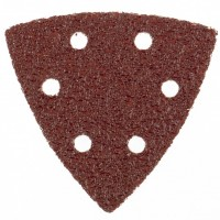 """Треугольник абразивный на ворсовой подложке под """"липучку"""", перфорированный, P 60, 93 мм, 5 шт. MATRIX"""