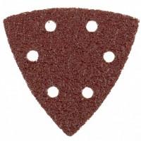 """Треугольник абразивный на ворсовой подложке под """"липучку"""", перфорированный, P 24, 93 мм, 5 шт. MATRIX"""