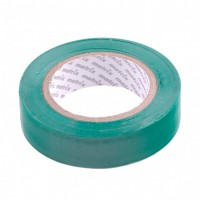 Изолента ПВХ, 15 мм х 10 м, зеленая, 150 мкм. Matrix