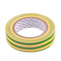 Изолента ПВХ, 15 мм х 10 м, желто-зеленая, 150 мкм. Matrix