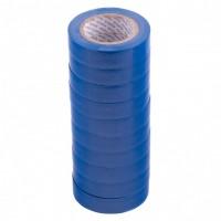 Набор изолент ПВХ 15 мм х 10 м, синяя, в упаковке 10 шт, 150 мкм. Matrix