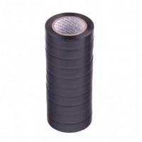 Набор изолент ПВХ 15 мм х 10 м, черная, в упаковке 10 шт, 150 мкм. Matrix