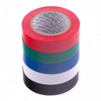 Набор изолент ПВХ цветных 15 мм х 10 м, в упаковке 5 шт, 150 мкм. Matrix