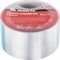 Лента клейкая алюминиевая, 50 мм х 10 м. MATRIX