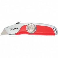 Нож, 18 мм выдвижное трапецивидное лезвие, эргономичная двухкомпонентная рукоятка. MATRIX