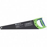"""Ножовка по дереву """"Зубец"""", 450 мм, 7-8 TPI, калёный зуб 2D, защитное покрытие, двухкомпонентная рукоятка. СИБРТЕХ"""