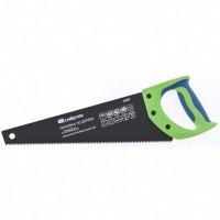"""Ножовка по дереву """"Зубец"""", 350 мм, 7-8 TPI, калёный зуб 2D, защитное покрытие, двухкомпонентная рукоятка. СИБРТЕХ"""