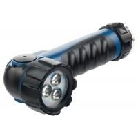 Фонарик светодиодный, противоударный, влагозащищённый, 3 ярких LeD, 2 х LR20. STERN
