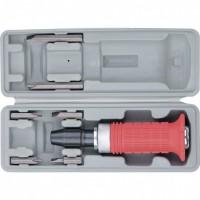 Отвертка ударно-поворотная 1/2, набор бит, 6 шт, обрезиненная ручка, пластиковый бокс. MATRIX