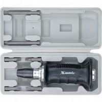 Отвертка ударно-поворотная 1/2, набор бит, 6 шт, черная ручка ПРОФИ, пластиковый бокс. MATRIX