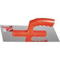 Гладилка стальная, 280 х 130 мм, зеркальная полировка, пластмассовая ручка. MATRIX