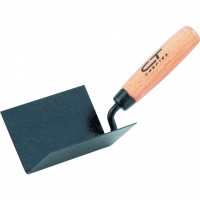 Кельма угловая, 110 х 75 х 75 мм, стальная, для внутренних углов, буковая ручка. СИБРТЕХ