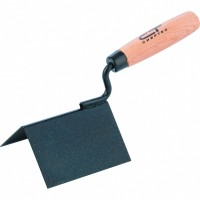 Кельма угловая, 110 х 75 х 75 мм, стальная, для внешних углов, буковая ручка. СИБРТЕХ