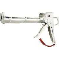 """Пистолет для герметика, 310 мл, """"полуоткрытый"""", хромированная, зубчатый шток 7 мм. MATRIX"""